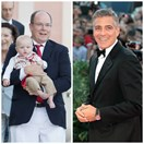 Prince Albert of Monaco shares his twin survival guide with George Clooney