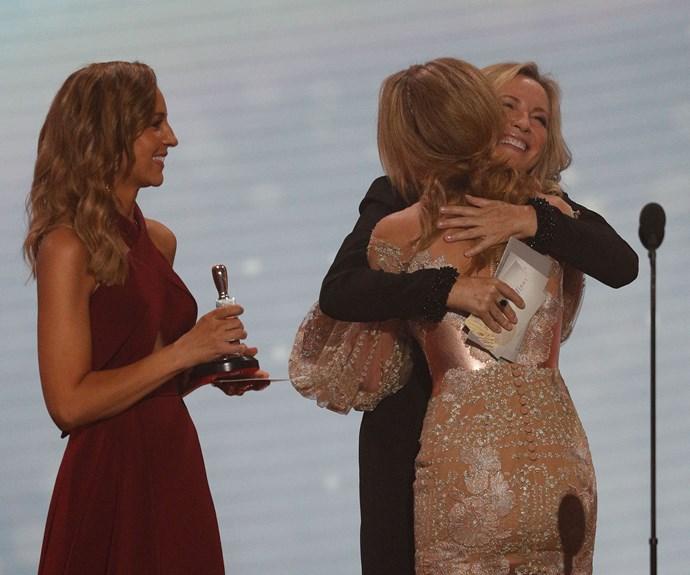 Carrie Bickmore, Jessica Marais and Rebecca Gibney