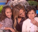 JLo's twins make their Ellen debut, steal the show