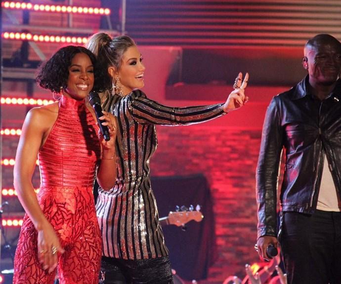 Kelly Rowland and Delta Goodrem