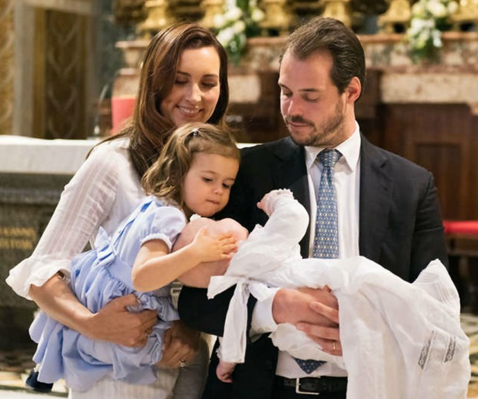 One for the books! Prince Liam, who is the youngest child of Princess Claire and Prince Felix of Luxembourg, was recently baptised at the Vatican. And the photo's, which feature big sister Amalia, are nothing short of spectacular. Click through to see more: