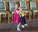 Princess Estelle and Prince Oscar run amok during a royal engagement