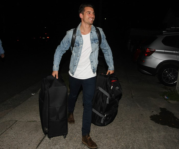 Coming up roses: Actual photos of Matty J arriving home after the Bachelor finale