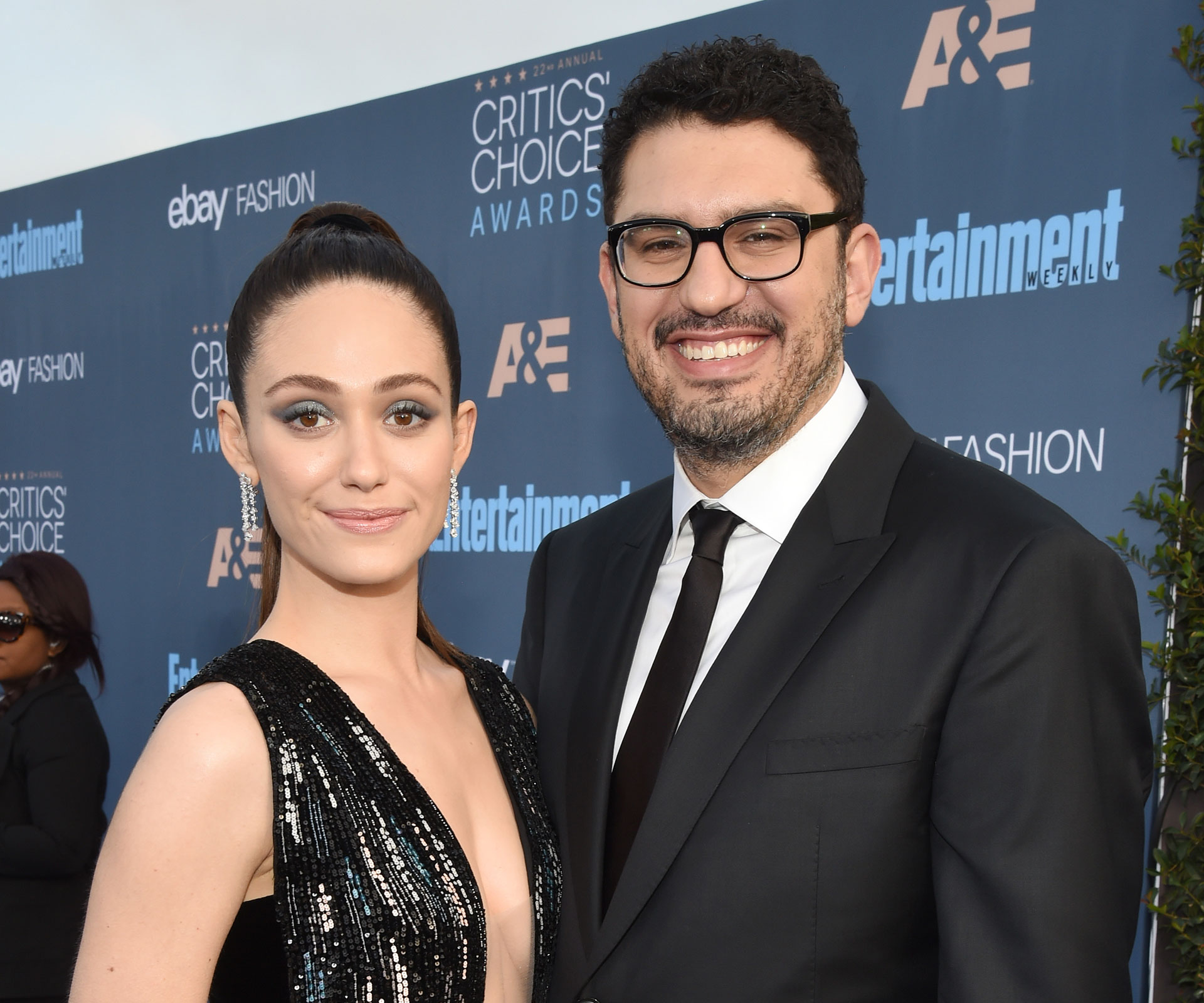 Emmy Rossum ties knot with 'Mr. Robot' creator Sam Esmail