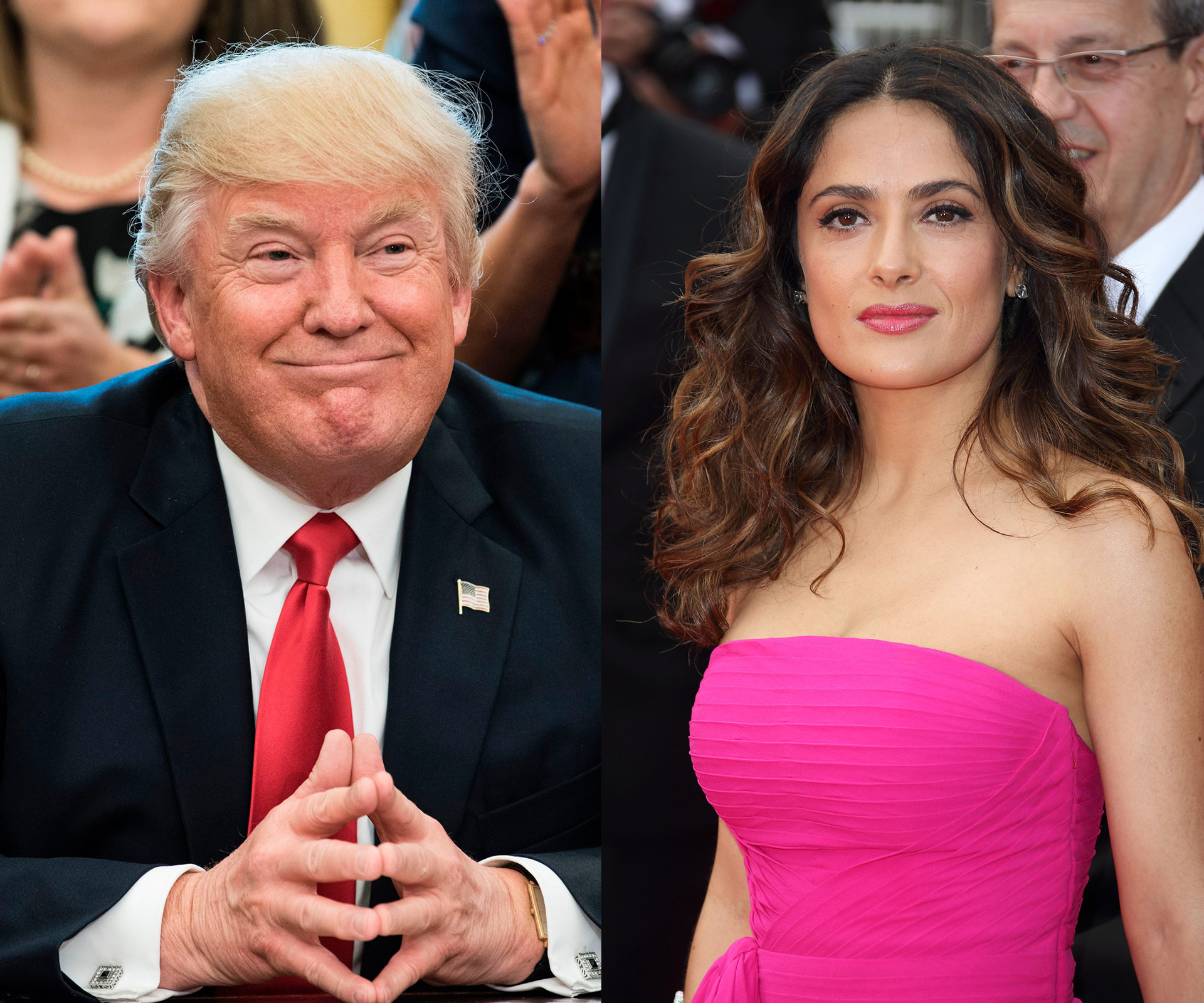 Salma Hayek reveals Donald Trump once asked her out