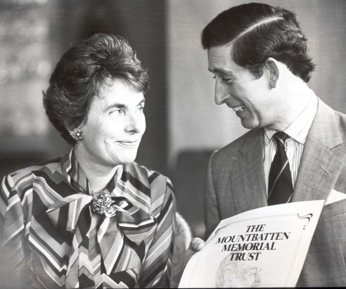 Countess Mountbatten of Burma and Prince Charles