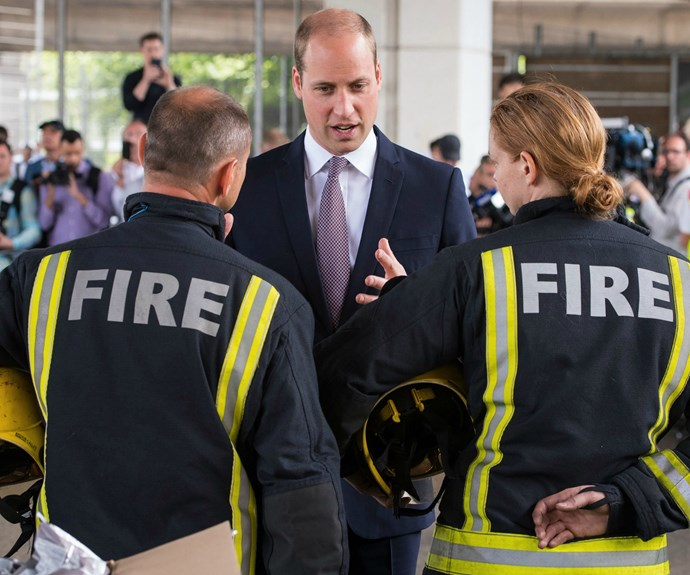 The royal duo spent around 45 minutes speaking with first responders, local residents and community representatives.