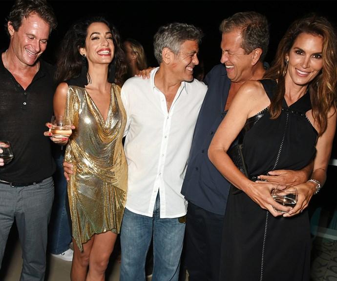George Clooney, Rande Gerber and Michael Meldman,