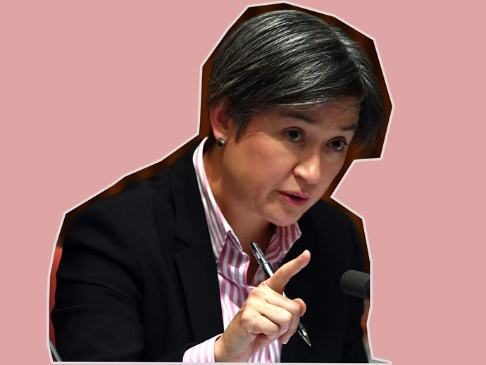 Penny Wong puts her manterrupting colleague in his place