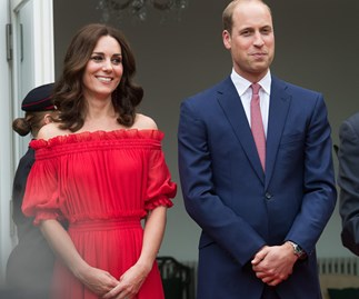 We're seeing red! Prince William and Duchess Kate take Germany by storm