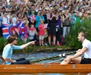 Kate is all smiles after William defeats her in a rowing race