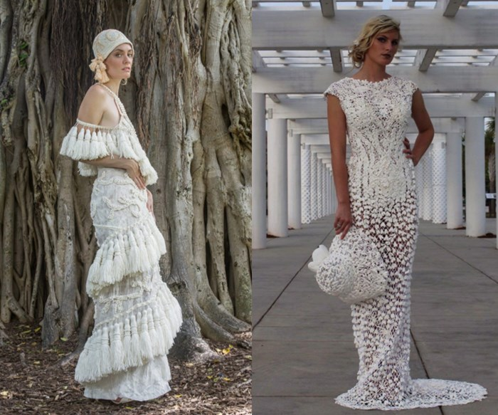 The most beautiful wedding dresses made out of toilet paper