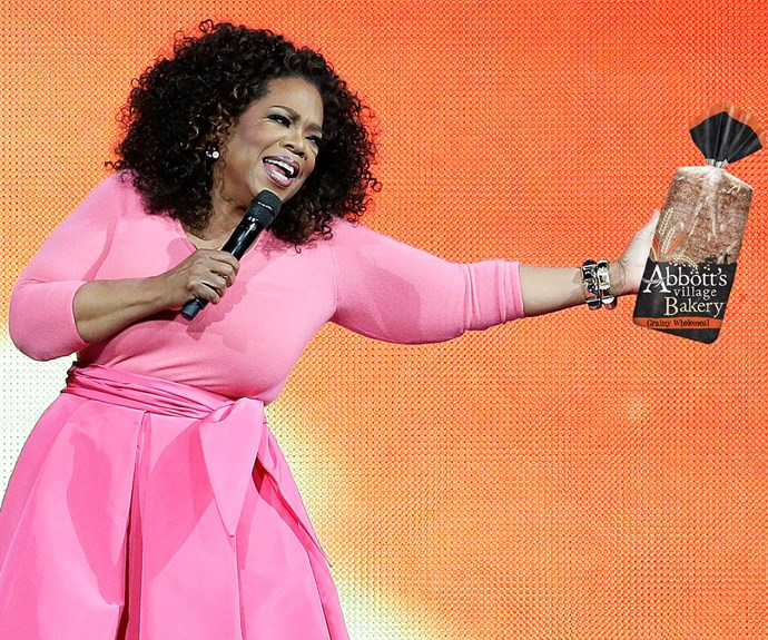 Oprah and what bread has the least calories