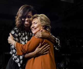 Michelle Obama and Hilary Clinton