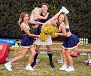 Simone, Tara, Cobie have spirit, oh yes they do... And it's for Bachelor Matty J