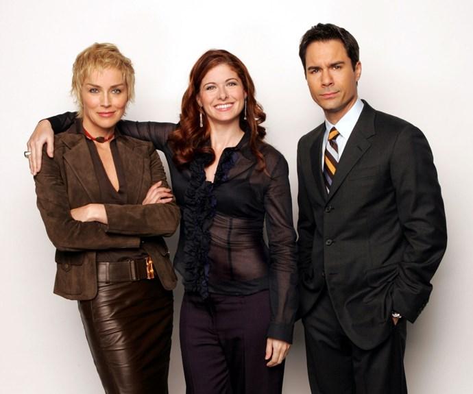 Debra Messing, Eric McCormack and Sharon Stone