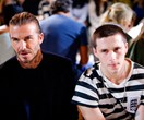 Victoria Beckham's biggest cheerleaders David and Brooklyn were out in full force in NYC