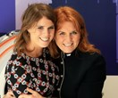 The Duchess of York and daughter Princess Eugenie pay a visit to teenage cancer patients