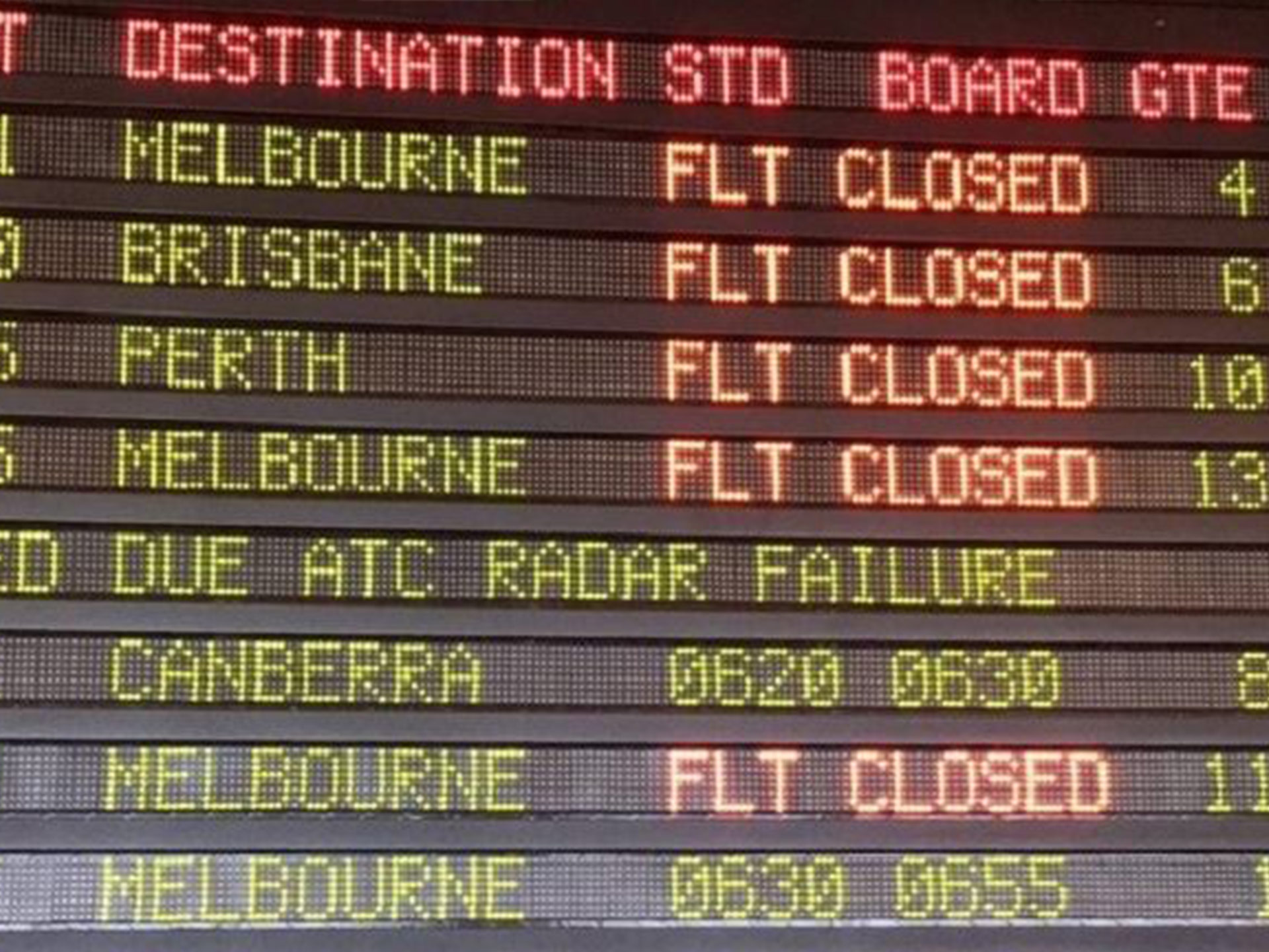 System failure triggers delays at Sydney airport