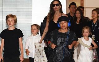 Angelina Jolie's kids arrive in Tokyo all grown up!