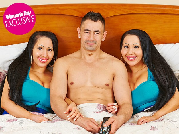 Wacky Aussie twins: We share one bed and one man:The trio's relationship began on facebook.