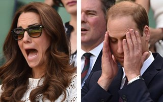 William and Catherine spend day at Wimbledon