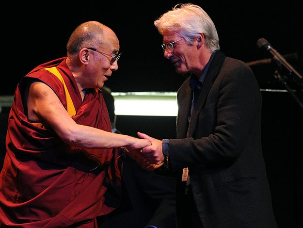 Richard Gere meets the Dalai Lama back in 2012.