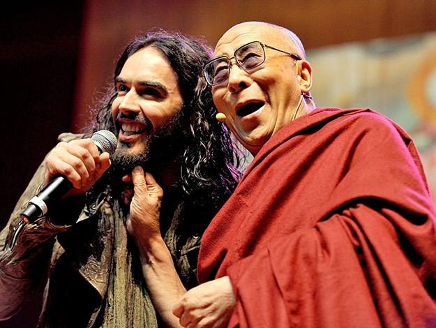 Russell Brand has the Dalai Lama laughing!