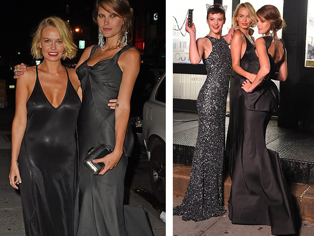 Lara embraces her new figure as she attends New York Fashion Week with her model friends!