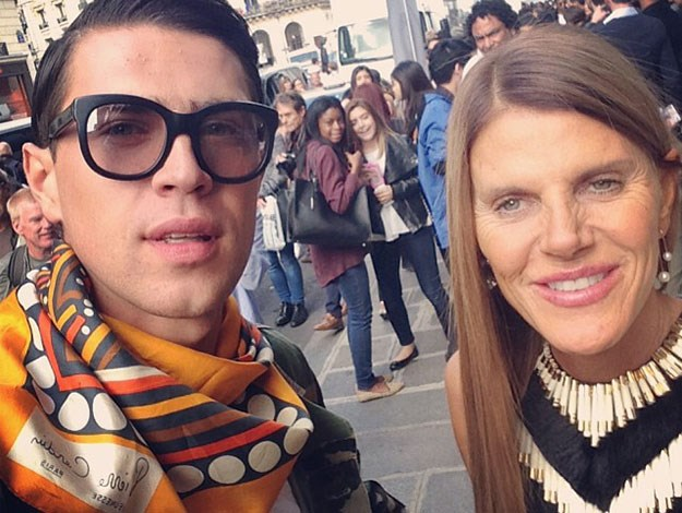 """Vitalli, also posing here at fashion week with famous fashion editor Anna Della Russo, is believed to have targeted many other celebrities including Will Smith and Leonardo Dicaprio and has been banned from the USA. He said: """"The prank with Kim was my protest that US banned me from entering the country."""""""