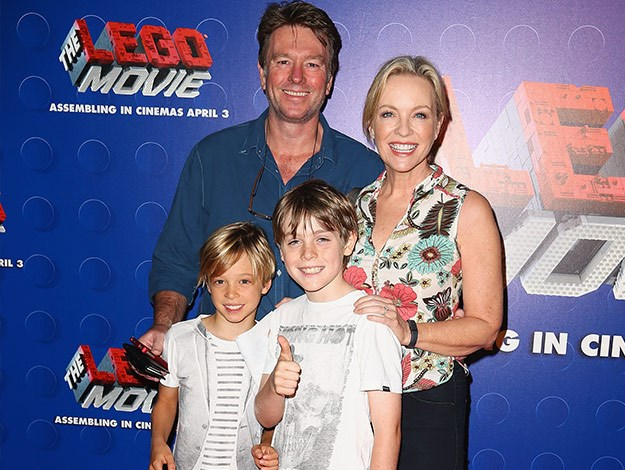 Her best role to date is mum to her ten-year old son Zac! (pictured here with a family friend)