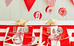 Christmas Craft: cool yule place settings