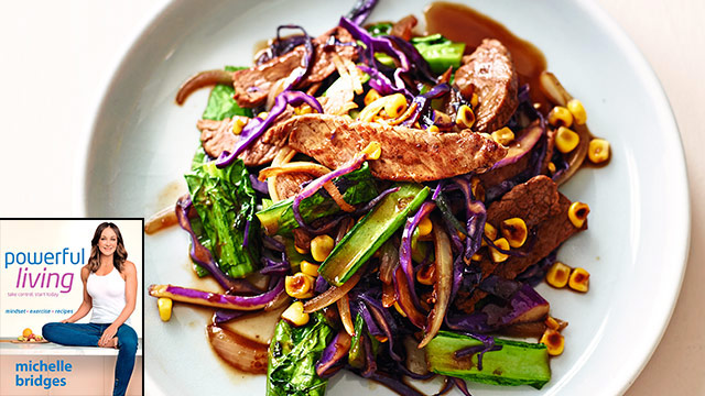 Michelle Bridges' Stir-Fried Beef with Ginger : Woman's Day