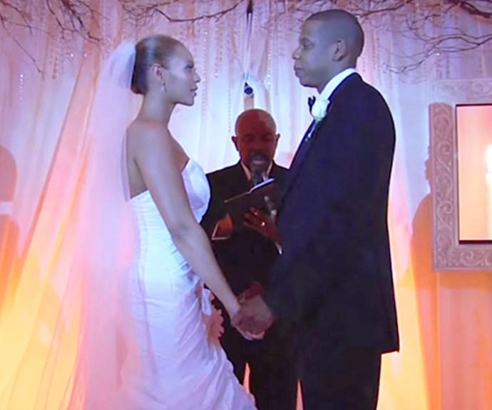 Beyonces Wedding Dress To Jay Z Jay Z shares Wedding f...