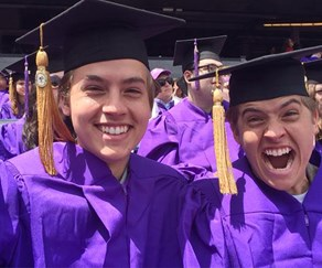 Friends actor who played Ross's son Ben, Cole Sprouse, graduates!