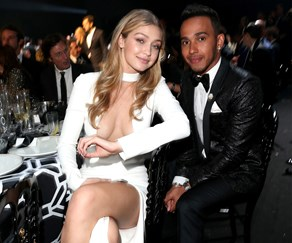 Gigi Hadid and Lewis Hamilton