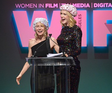 Pucker up, pal! BFFs Nicole Kidman and Naomi Watts pash on stage!