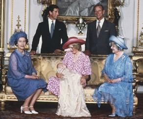 Queen Elizabeth, Princess Diana, Queen Mother, Prince Philip, Prince Charles, Prince William