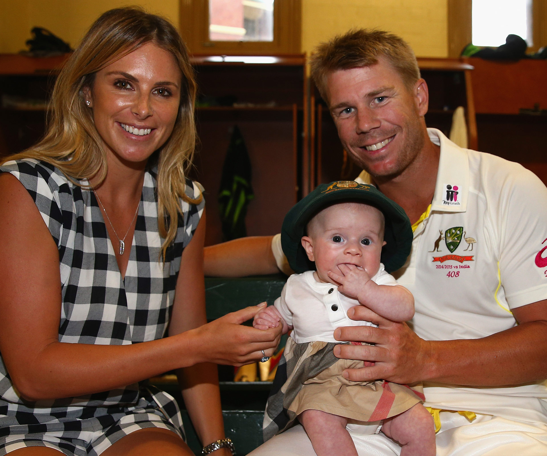 Candice Warner Candice and David Warner are expecting a second child