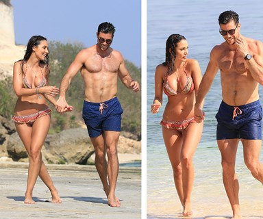 Some like it HOT! Sam Wood and Snezana Markoski's steamy beach PDA