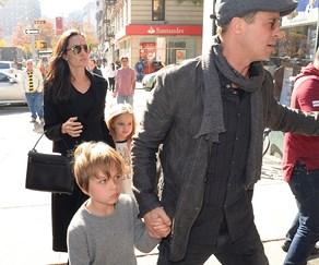 Brad Pitt, Angelina Jolie, Vivienne and Knox