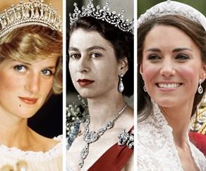 Princess Diana, Queen Elizabeth II, Duchess Catherine