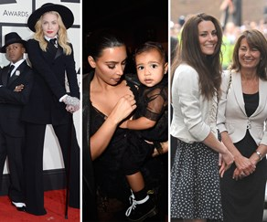 Madonna, David, Kim Kardashian, North West, Duchess Catherine, Carole Middleton