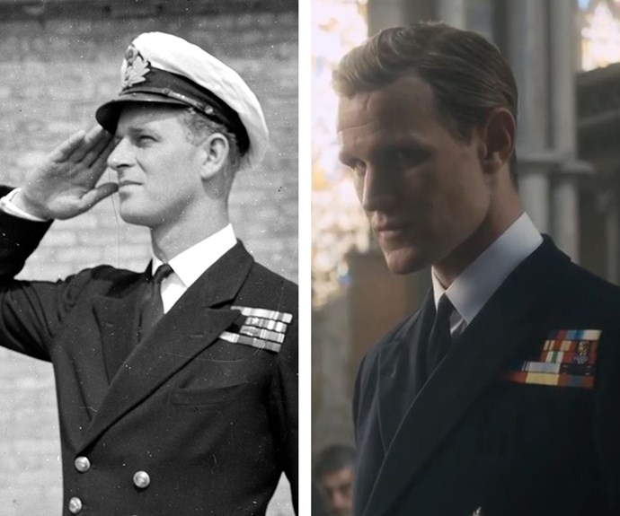 Prince Philip and Matt Smith