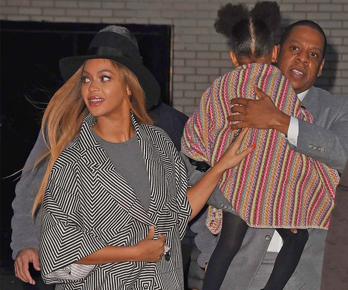 Beyonce, Blue Ivy and Jay Z