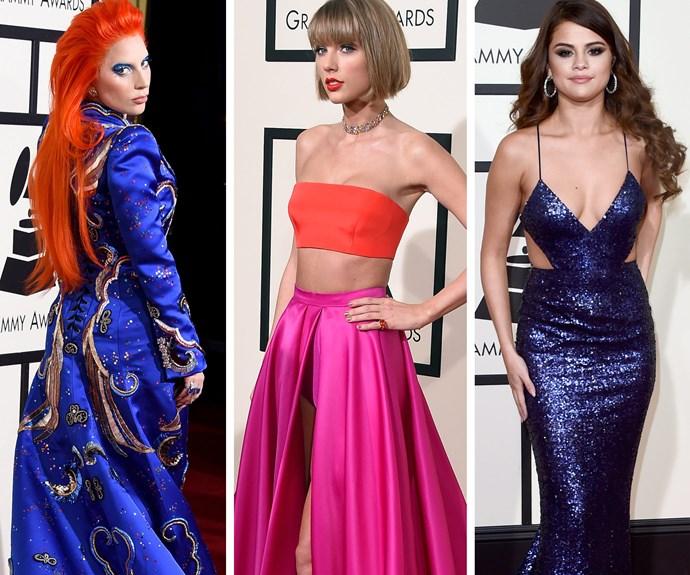 Lady Gaga, Taylor Swift and Selena Gomez