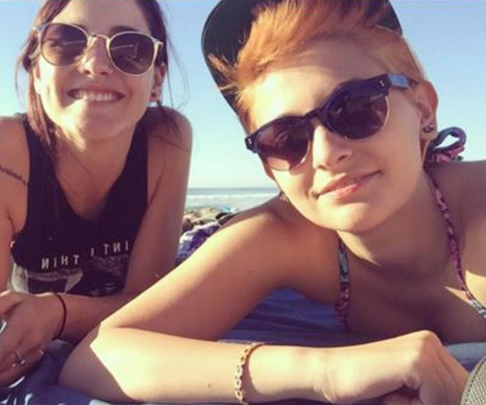 Paris Jackson dyes hair orange