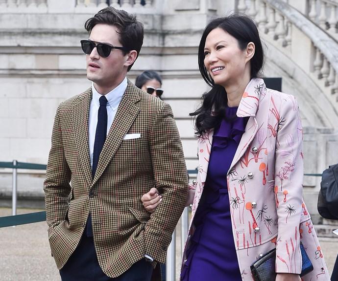 Wendi Deng and Charlie Siem