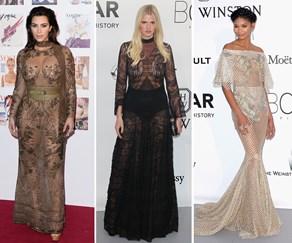 Kim Kardashian and Lara Stone