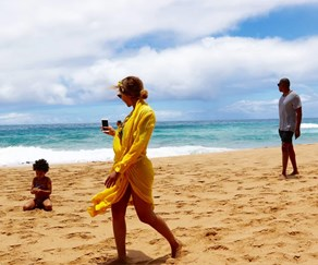 Beyonce, Blue Ivy and Jay Z are having the best summer